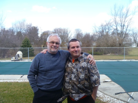 Ten years later, with Dad.  April 3, 2013