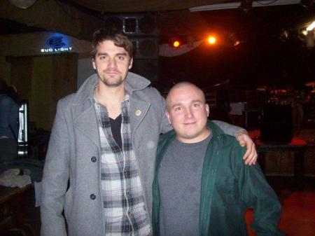 Me with Tim Baker, lyricist and singer of Hey Rosetta!, at the Ithaca, New York show