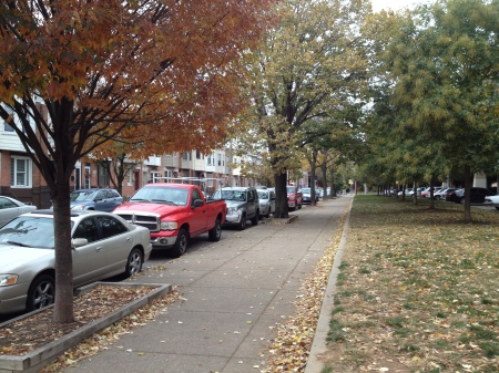 The view down Front Street right by my house.  Front is one of the main arterial streets through Pennsport.