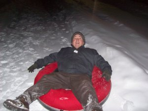 Snow tubing at a work function in Erie--essentially the ONLY perk of the brutal winters.